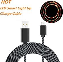 Micro USB Cable, FGRID 3 ft LED Flowing Light Up Glowing Android Charger Cable for Android Devices, E-Readers and All Other Micro USB Devices