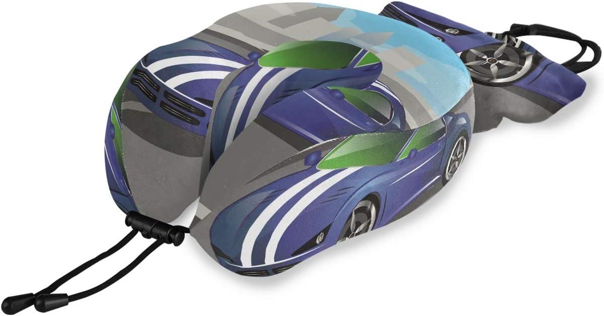 NYTTT Sports Blue Car Travel Neck Ranking TOP17 Soft Pillow Comfort H Shaped Spasm price U