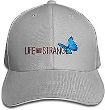 FLYL Life Is Strange Logo Butterfly Unisex Washed Twill Sandwich Bill Cap Adjustable Peaked Baseball Cap Fashion Golf Hat Cool Baseball Caps & Golf Capssnapback Hat White
