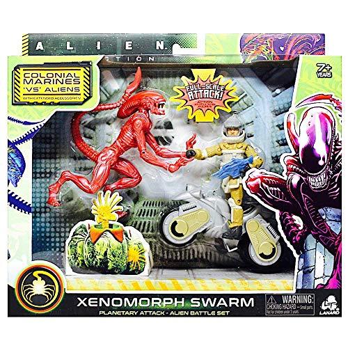 Alien Collection Xenomorph Swarm - Colonial Marines VS Aliens - Xenomorph Runner Planetary Attack Alien Battle Set