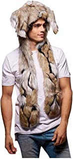 Sixpi Fashion Men Christmas Faux Fur Ear Hat Wrap Stage Costumes Nightclub Hat, Christmas Ornaments Advent Calendar Pillow Covers Garland Tree Skirt Gift Bags Wrapping Paper