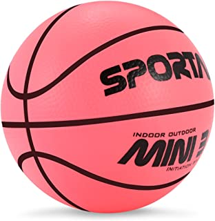 Stylife® 5inch Mini Basketball for Kids, Inflatable Ball Environmental Protection Material,Soft and Bouncy,Colors Varied
