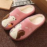 Hedgehog, Squirrel, Indoor Wear-Resistant Warm Waterproof Men Women Winter Slippers Warm Indoor Home Fluffy Slippers Shoes@Squirrel Plum Red_44-45 (Suitable for 43-44)