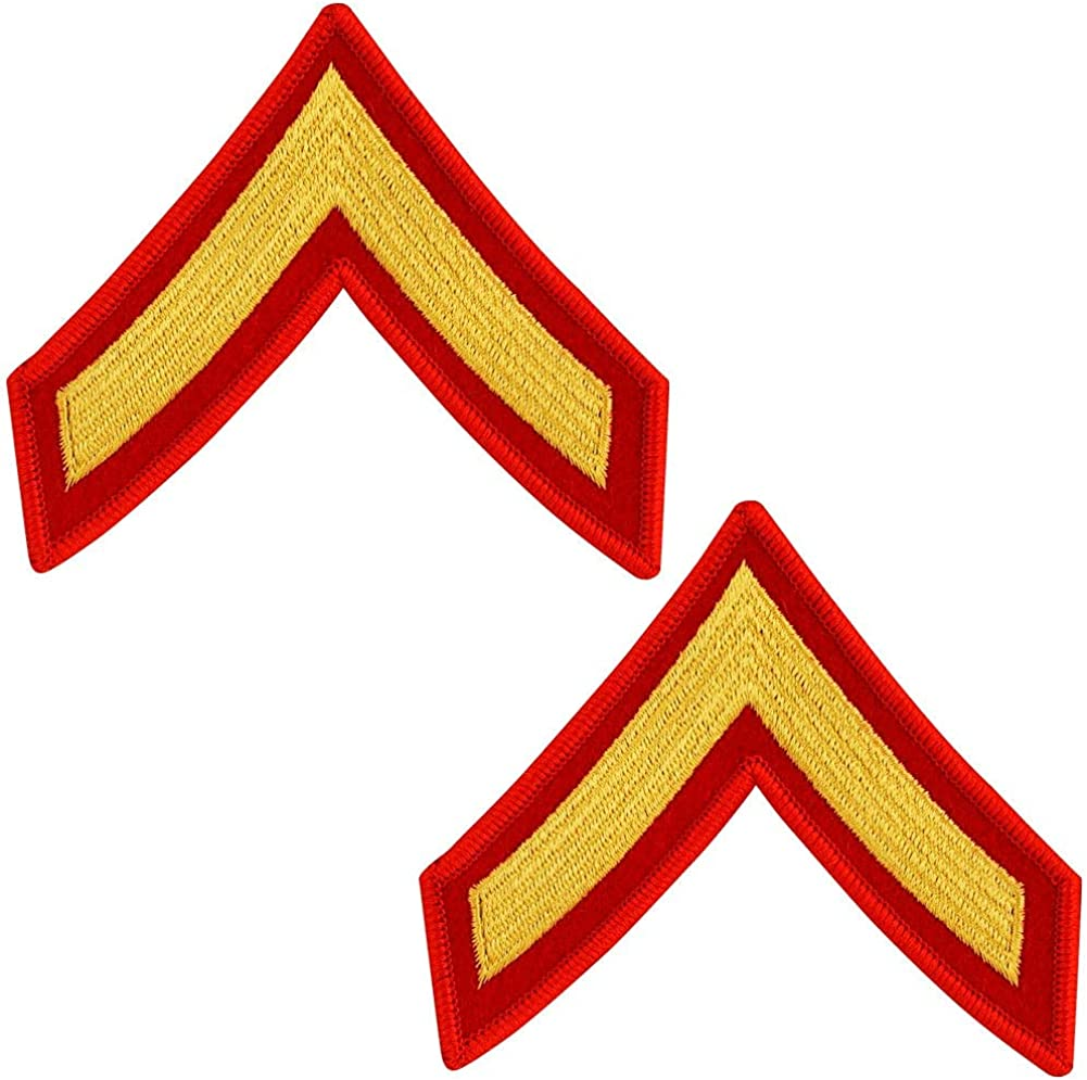 United States Challenge the lowest price of Japan Marine Corps USMC on red gold embroidered Charlotte Mall chevron
