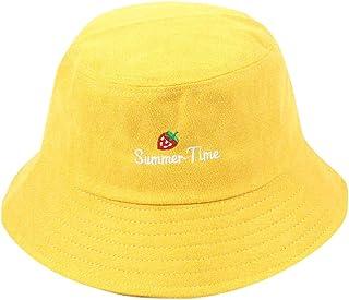 c50be9b21c1 Suma-ma Unisex Summer Cotton Embroidery Visor Bucket Hats Fisherman Hat  Outdoor Sunshade Flat Caps