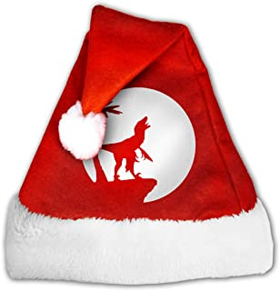 Raptor Moon Classic Santa Claus Xmas Hat With Plush Trim & Comfort Liner