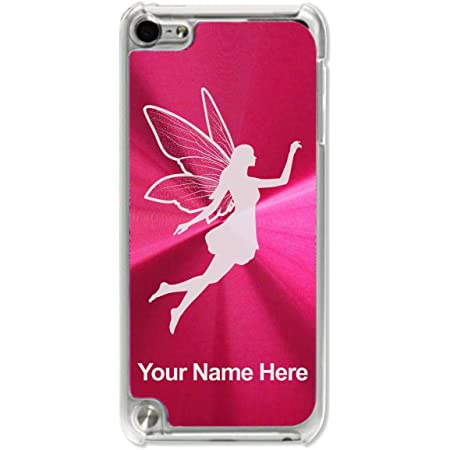 Case Compatible with iPod Touch 5th/6th/7th Generation, Fairy, Personalized Engraving Included (Red)