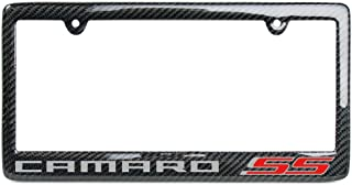 Camaro 6th Generation Carbon Fiber License Plate Frame (SS Logo)