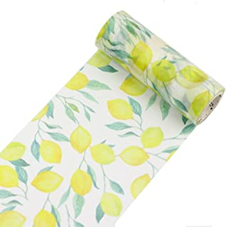 Sweet Lemon Fruit Wide Washi Tape 1 Roll – Notebook Scrapbook Decorative DIY Japanese Masking Gift Wrapper Wide Washi Tape Set (Width: 100 mm)