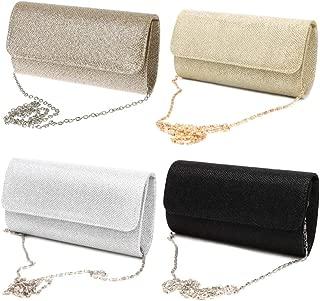 Women's Glitter Sparkly Shoulder Bag Bridal Clutch Bags Prom Party Evening Wedding Envelope Ladies Girls Handbag