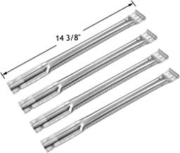 YIHAM KB890 Gas Grill Replacement Parts Tube Burner for Charbroil, Kenmore, Members Mark, Master Chef, Nexgrill and Other BBQ Models, 14 3/8 inch, Stainless Steel, Set of 4