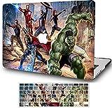Hero League - Carcasa rígida para MacBook Pro de 16 pulgadas (2019 2020 2021) Modelo: A2141, carcasa rígida con barra táctil con cubierta de teclado AQYANGELL- Cartoon Hero