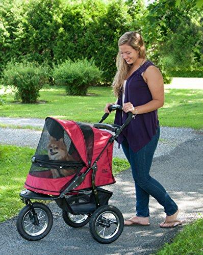 Pet Gear No-Zip Jogger Pet Stroller for Cats/Dogs, Zipperless Entry, Airless Tires,...