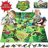 Bdwing Dinosaurier Spielzeug, Dinosaurier Figuren Mit Spielmatte (Extra 1 Dinosaurier Booklet), Jurassic World Dinosaurier Spielzeug Groß