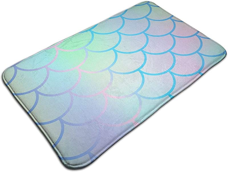 Tuoneng Original Memory Foam Bath Rug Cushioned Soft Floor Mats Absorbent Kids Bathroom Mat Rugs Luxury Comfortable Carpet For Bath Room Magic Mermaid Fish Scales5