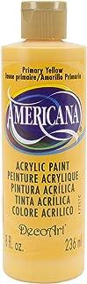 DecoArt DA201-9 Americana Acrylics, 8-Ounce, Primary Yellow