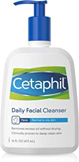 Face Wash by Cetaphil, Daily Facial Cleanser for Combination to Oily Sensitive Skin, 20 fl oz, Gentle Foaming Deep Clean W...
