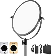Neewer LED Bi-Color Studio Round Lighting, Ultra Thin Studio Edge Flapjack Light, 16-Inch Portrait Light with Battery Holder/AC Adapter, 40W Dimmable LED Panel with LCD Display (Battery Not Included)