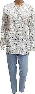 Vendita 100/% cotone con bottoni manica lunga pigiama da Slenderella Crema