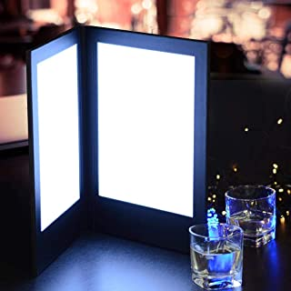 backlit menu holder