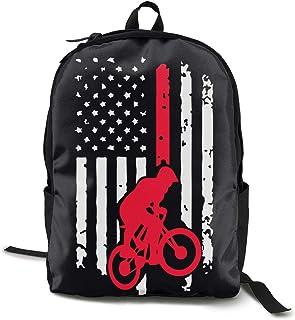 LLiYing-D BMX Bike American Flag Adult Mens Sports Long Sleeve Hoody T-Shirt