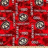 Sykel Enterprises NCAA Ohio State Buckeyes Fleece Digital, Yard, Multi