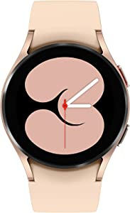 Samsung Galaxy Watch 4 40mm Smartwatch with ECG Monitor Tracker for Health Fitness Running Sleep Cycles GPS Fall Detection Bluetooth US Version, Pink Gold