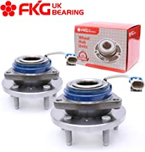 FKG 513121 Front Wheel Bearing Hub Assembly fit for Impala, Allure, Aurora, Bonnevile, Lesabre, Century, Seville, 5 Lugs W/ABS Set of 2