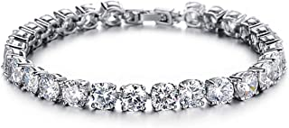 Sukkhi Crystals from Swarovski Platinum Plated Bracelet for Women and Girls (BC81088)