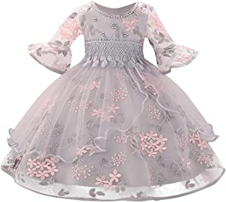 Girls Dress Infant Floral Baby Girl Princess Bridesmaid Pageant Gown Birthday Party Wedding Dress