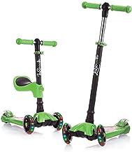 Lascoota 2-in-1 روروک مخصوص بچه ها با صندلی قابل جابجایی عالی برای کودکان و نوجوانان دختران و پسران - ارتفاع قابل تنظیم ارتفاع / WU-wide پانل PU فلاش چرخ برای کودکان 2 تا 14 ساله