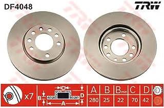 metelligroup 23-0100 Disco de Freno Certificado ECE R90 Kit Compuesto de 2 Discos de Freno Repuestos para Automoviles