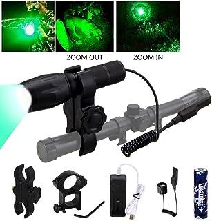 VASTFIRE 350 Yard Green Hunting light Zoomable Flashlight...