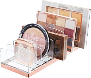 mDesign Makeup Organiser Ideal Makeup Storage Solution With 9 Compartments Storage For Makeup Palettes And Other Items Cle...