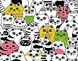 Y·JIANG - Dipinto a mano con i gatti di razze diverse, per adulti, bambini, decorazione da parete, 50 x 50 cm