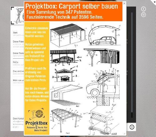 Carport selber bauen: Deine Projektbox inkl. 3596 Seiten Original-Patente bringt Dich mit Spaß ans Ziel!