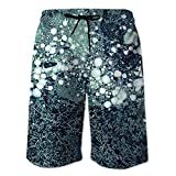 ASDWA Shorts De Playa,Bañador De Baño De Secado Rápido para Hombre Pantalones Cortos 3D con Estampado De Bola De Nieve Pequeña con Bolsillos Estiramiento Cordón Casual Running Surfing Beach Sportssho