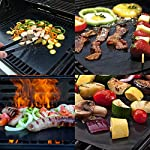 BACKTURE BBQ Grill Mat (5 pcs) 33x40 cm + 2 Brushes for Grilling and BBQ Non-Stick Grill Baking Mat Large Grill Foil… 11