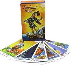 GGSDDDUP Tarotkort, strålande ryttar- Waite tarotdäck 78-kortuppsättning och guide broschyr för nybörjare, klassiskt orake...