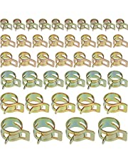 Anpro 60Pcs Spring Clip Water Pipe Hose Clips Hose Clip Spring Clip Necklace Adjustable 6 Different Sizes Set for Flexible Hoses and Hard