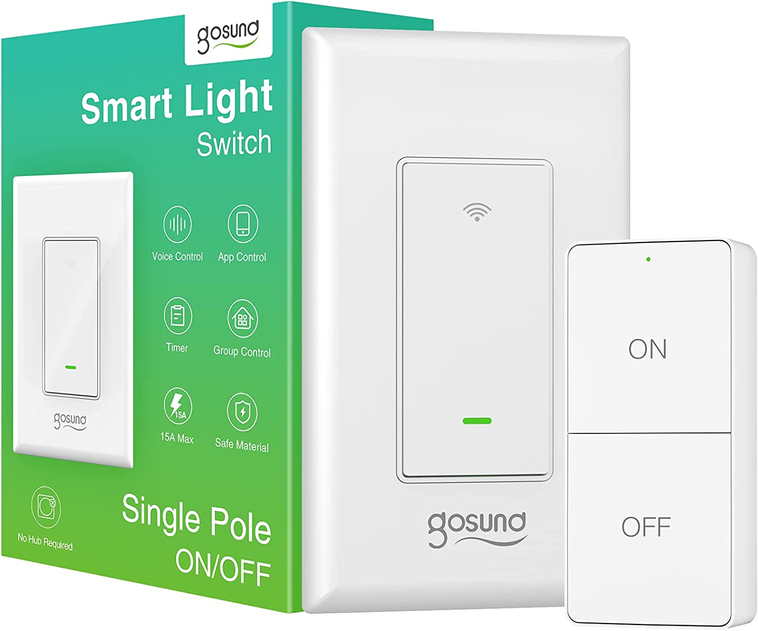 Smart Switch WiFi Light with wit Remote 4 years New sales warranty Works Controller