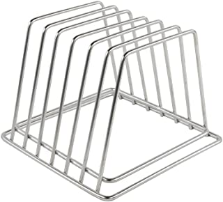 Commercial Cutting Board Organizer, Stainless Steel Rack NSF, No Rusting, 0.75 Inch Width Slots