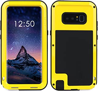 Samsung Galaxy Note 8 case,Feitenn Extreme Hybrid Armor Alloy Aluminum Metal Bumper Soft Rubber Military Heavy Duty Shockproof Hard Case For Samsung Galaxy Galaxy Note 8 (Yellow)