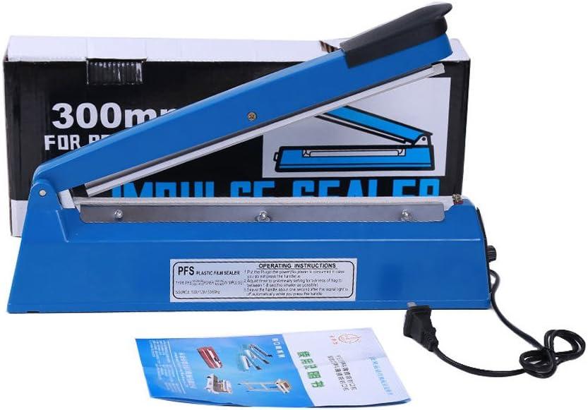 Yontree Sellador de Bolsas de Pl/ástico Port/átil Color Azul