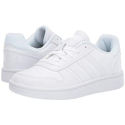 adidas Kids Hoops 2.0 (Little Kid/Big Kid) (Footwear White/Footwear White/Footwear White) Kids Shoes