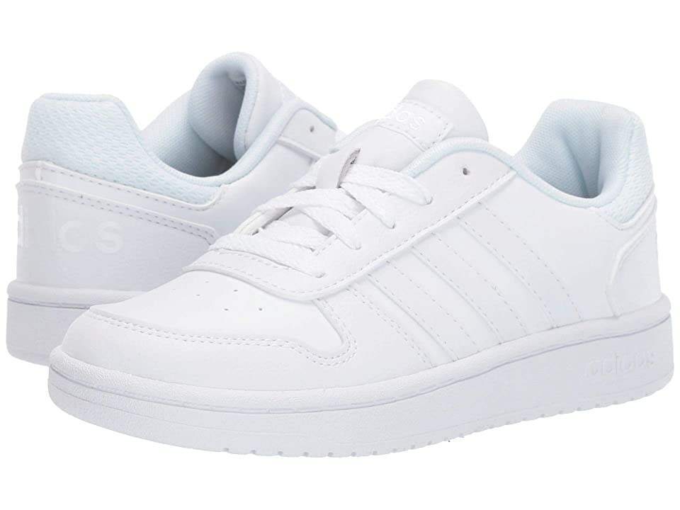 adidas Kids Hoops 2.0 (Little Kid/Big Kid) (Footwear White/Footwear White/Footwear White) Kids Shoes