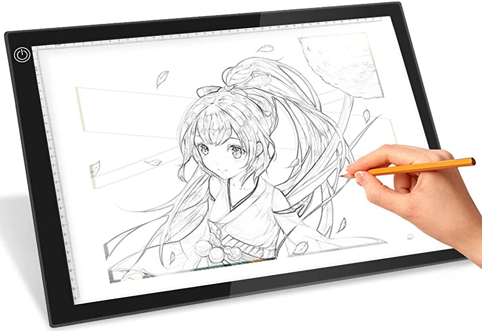 iMounTEK A3 Ultra-Thin Portable LED Copy Board Drawing Tattoo Tracer. USB Powered Dimmable Brightness Art Craft Pad For Artists, Drawing, Sketching, Animation, Stenciling, X-Ray Viewing, Diamond Paint