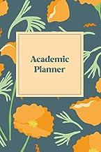Blue Floral Blank 16-week Academic Planner