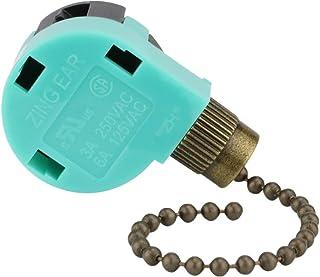 Ceiling Fan Switch 3 Speed 4 Wire Zing Ear ZE-268S6 Pull...