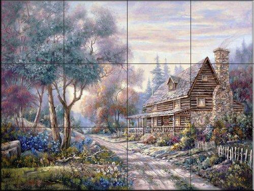 Fliesenwandbild - The Woodlands - von Carl Valente - Küche Aufkantung/Bad Dusche